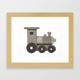 BW Wooden Locomotive Framed Art Print