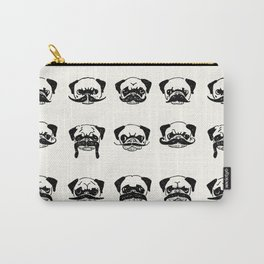 Moustaches of The Pug Carry-All Pouch