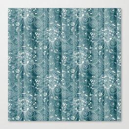Zenny Stripe, Blue Spruce Canvas Print