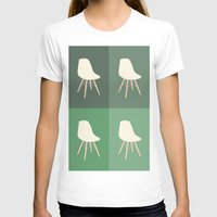 eames T-shirts featuring Eames x 4 #2 by bittersweat