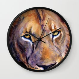 Lion Into The Light Wall Clock