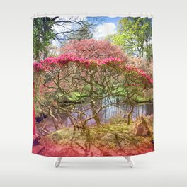 Japanese Garden And Pond Shower Curtain