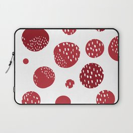 Abstract design with circles Laptop Sleeve