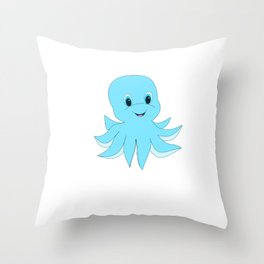 Cute Baby Octopus Throw Pillow