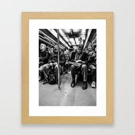 Parisian Commuters Framed Art Print