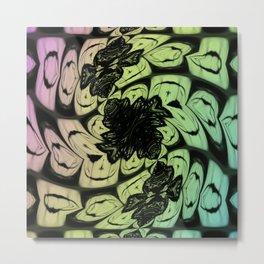Wonderland Pattern Metal Print