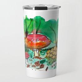 Toadstool Mushroom Fairy Land Travel Mug