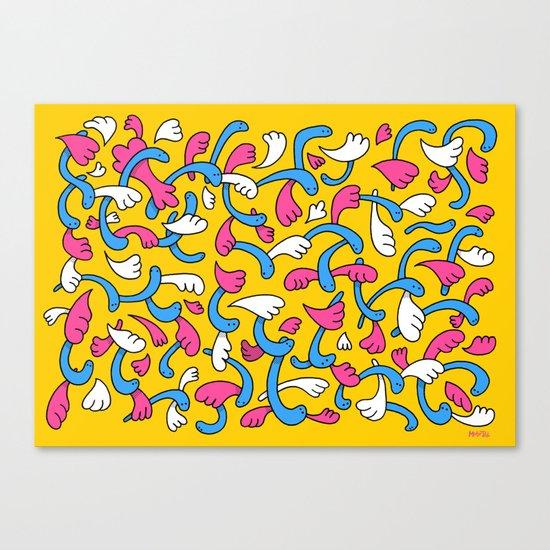 Worms n Wings Canvas Print