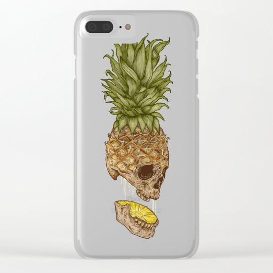 Pineapple Skull Clear iPhone Case