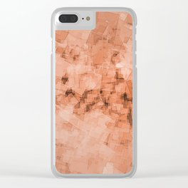 Abstract geometric square pattern structure space illustration Clear iPhone Case