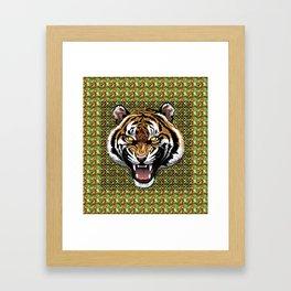 TIGER JUNGLE (Tiger Pattern/Art) Framed Art Print