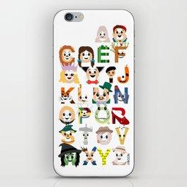 Oz-abet (an Oz Alphabet) iPhone Skin
