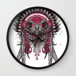 Tribal Owl 2 Wall Clock
