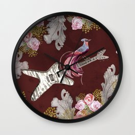 Flying Guitar- Electric Guitar Art Wall Clock