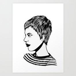 Gamine Jean Art Print