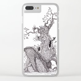 Tiny dragons tree nest Clear iPhone Case