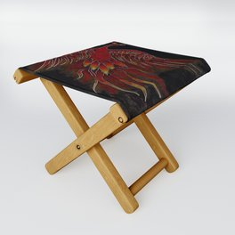 Creature of Fire (The Firebird) Folding Stool