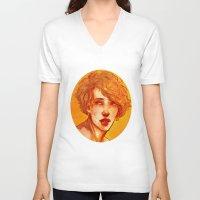 apollo V-neck T-shirts featuring apollo by chazstity