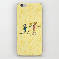 lovers iPhone & iPod Skins featuring Lovers by Giuseppe Lentini