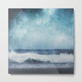 Wave Glitch 1 Metal Print