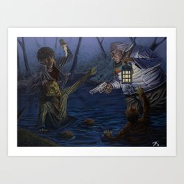 Zombie attack Art Print