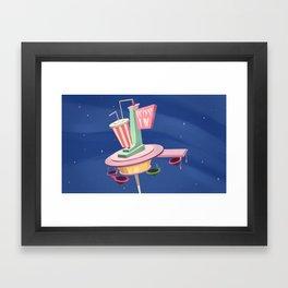 Retro Diner Framed Art Print