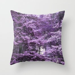 Infrared Trees Forest Throw Pillow