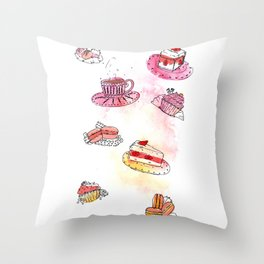 sweets Throw Pillow
