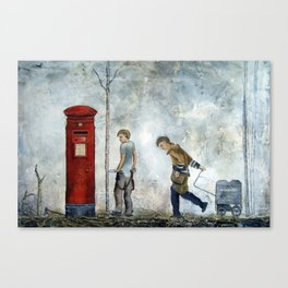 Boy With A Letterbox Canvas Print
