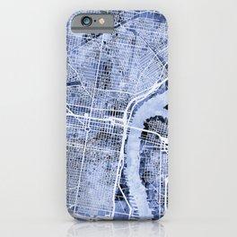 Philadelphia Pennsylvania City Street Map iPhone Case