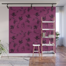 Sophisticated Berry Pattern Wall Mural