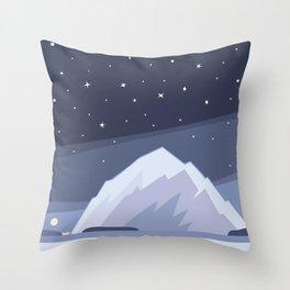 Arctic Night Throw Pillow