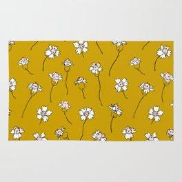 Dainty Wildflowers - Mustard & Blush Rug