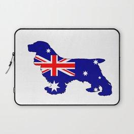 Australian Flag - Cocker Spaniel Laptop Sleeve