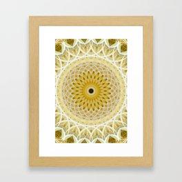 Honey and milk mandala Framed Art Print