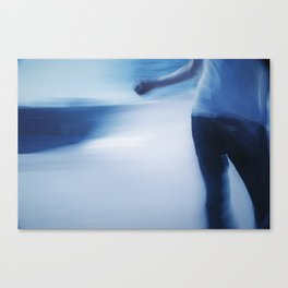 Skater in Slow Motion Canvas Print