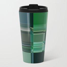 Line\green\abstract\glitch Travel Mug