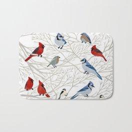 Winter Birds Bath Mat