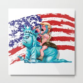 Liberty is in my control iPhone 4 5 6 7, ipod, ipad, pillow case and tshirt Metal Print