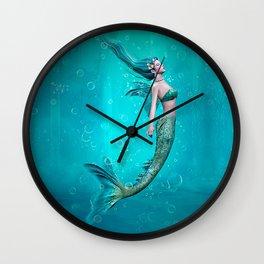 Underwater Mermaid Wall Clock