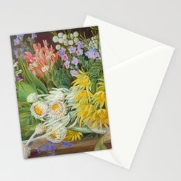 Medley of Wild Summer Mountain Flowers still life painting Stationery Cards