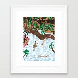 The Jungle Beach Framed Art Print