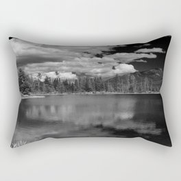 Sprague Lake under Clouds Rectangular Pillow