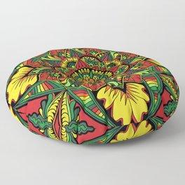 Bright Mandala, Version 2 Floor Pillow