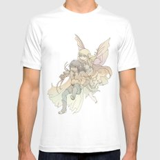 Test Flight Mens Fitted Tee MEDIUM White