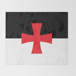 Knights Templar Flag - High Quality Throw Blanket