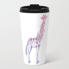 Floral giraffe Travel Mug