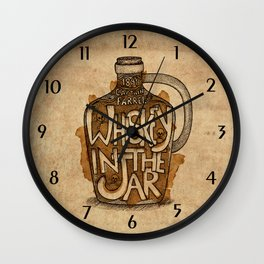 Whiskey in the Jar Wall Clock