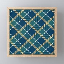Saint Patrick's tartan cloak. Framed Mini Art Print