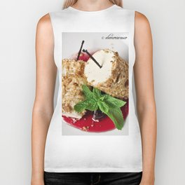 Brittle hazelnut ice cream, with black cherries Biker Tank